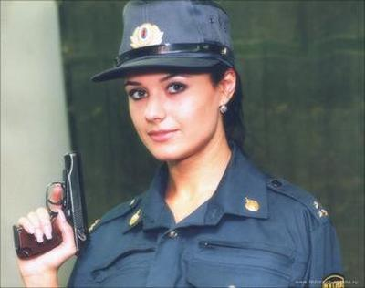 Are not Russian girl police outfit